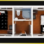 Container House, 2 bedroom Interior